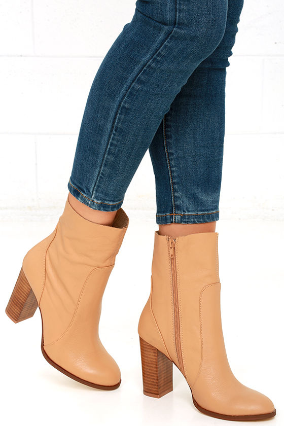2b9f30be4027 Chinese Laundry Cool Kid Boots - Genuine Leather High Heel Boots - Mid-Calf Leather  Boots