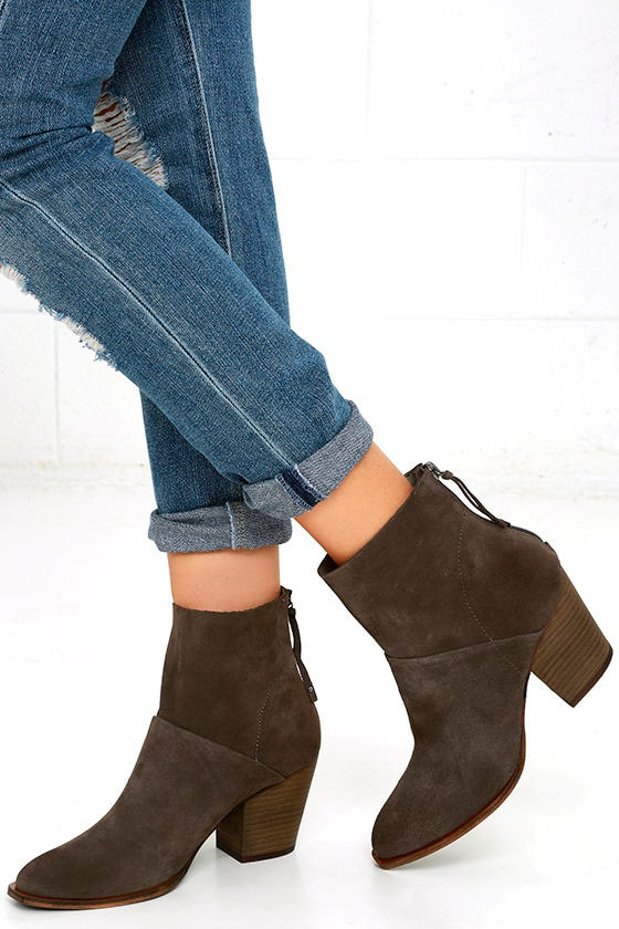 Chinese Laundry Kind Heart - Suede Leather Ankle Boots - High Heel ... bff47547745e