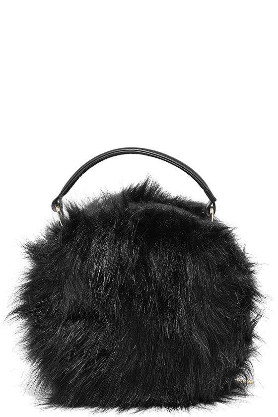 aacb499a875a Cute Black Purse - Faux Fur Purse - Faux Fur Bag -  31.00