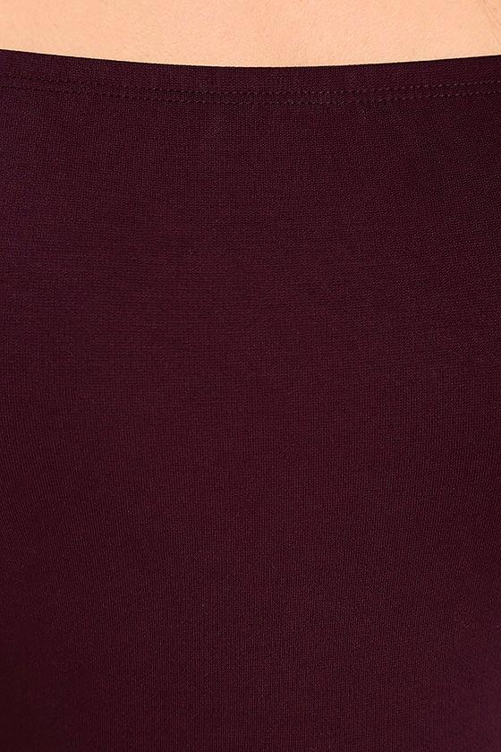 Like a Bird Plum Purple Off-the-Shoulder Bodysuit 7