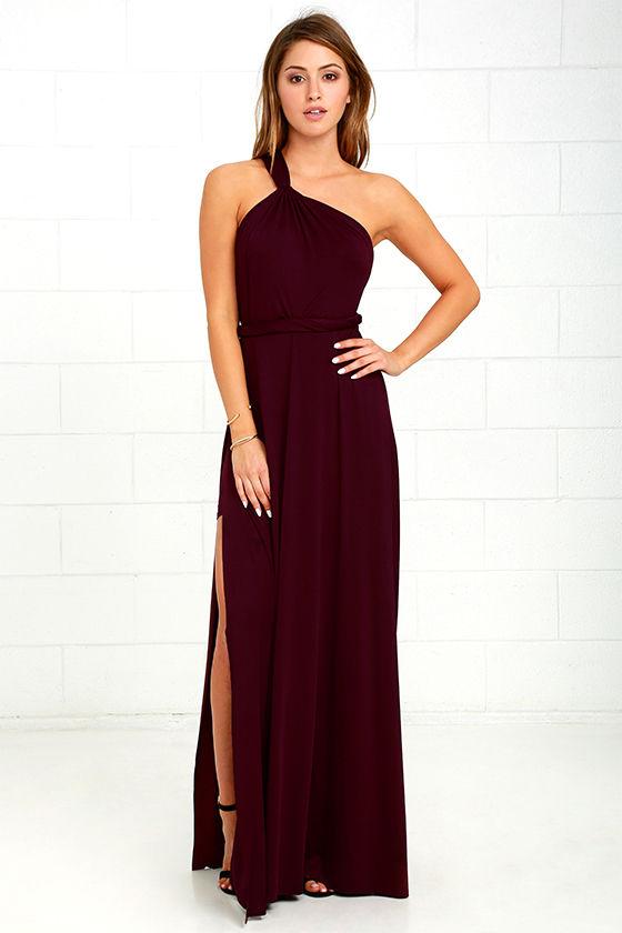 Lovely Plum Purple Dress - One Shoulder Dress - Maxi Dress - $59.00