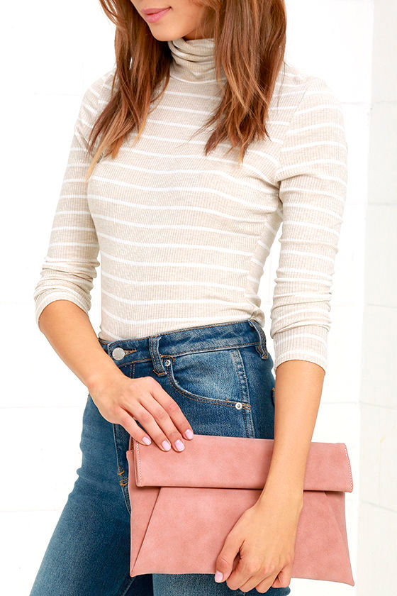 Curated Selection Blush Pink Clutch 1