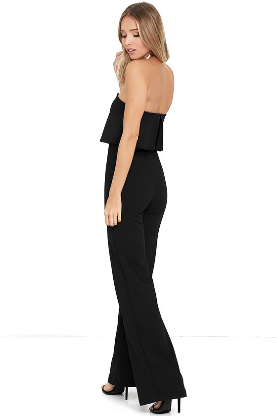 Power of Love Black Strapless Jumpsuit 4