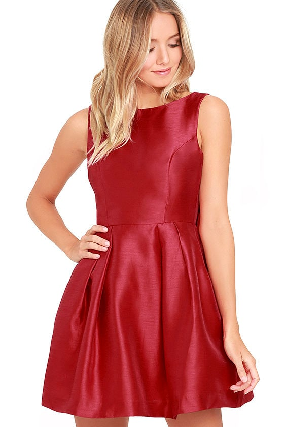 Bow Me a Kiss Wine Red Backless Dress 2