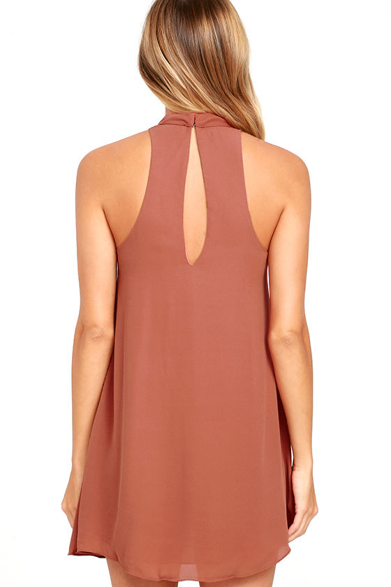 Groove Thing Rusty Rose Swing Dress 5