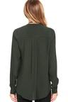 Pretty Grey Blouse Button Up Blouse Long Sleeve Blouse 44 00