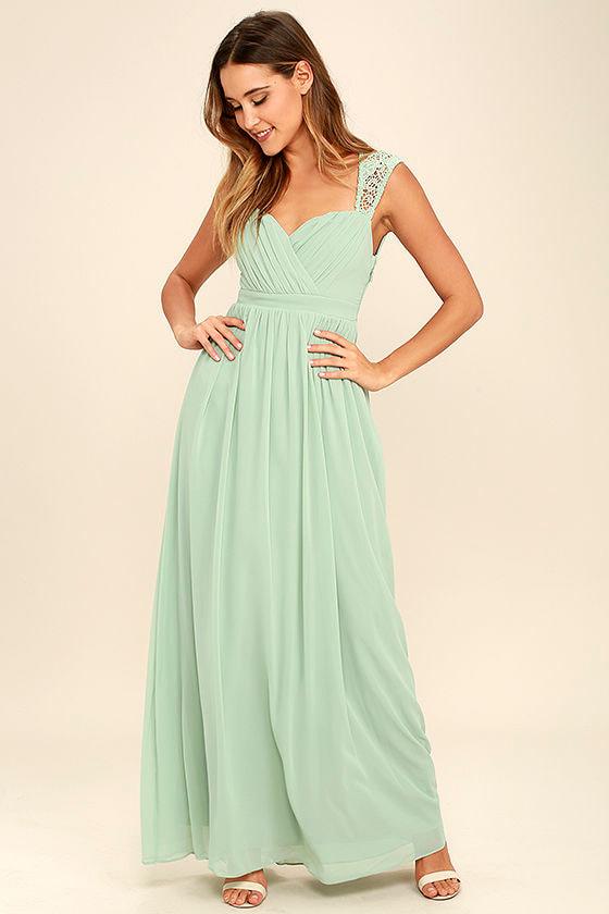 5f459b58ca1 Sage Green Dress - Maxi Dress - Lace Gown -  78.00