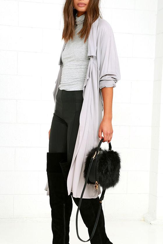 1ba16273cfda Cute Black Purse - Faux Fur Purse - Faux Fur Bag -  31.00