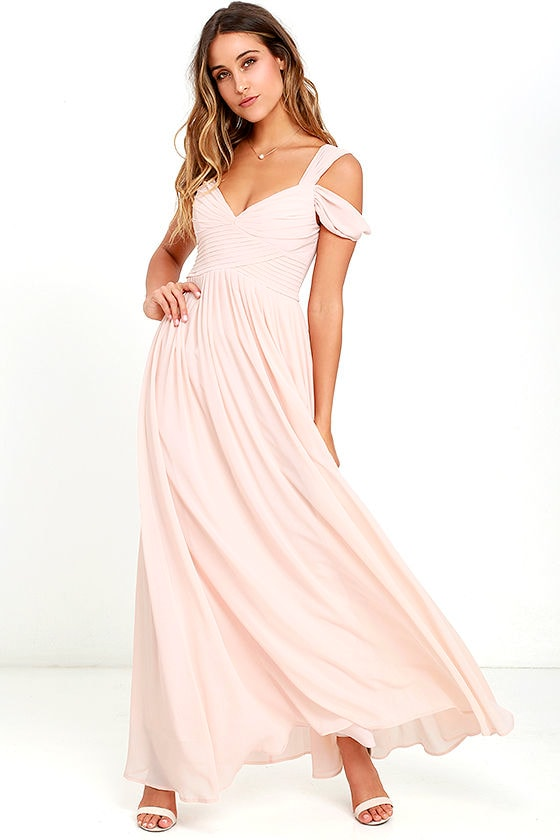 Lovely Blush Pink Dress - Maxi Dress - Bridesmaid Dress - $89.00