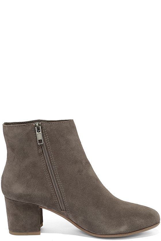 Steve Madden Holster Grey Suede Leather Ankle Booties 4