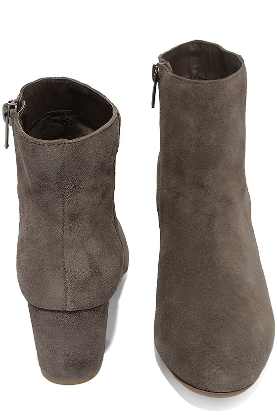 Steve Madden Holster Grey Suede Leather Ankle Booties 3