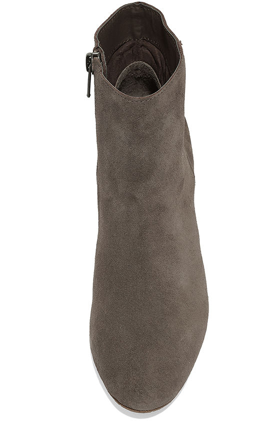 Steve Madden Holster Grey Suede Leather Ankle Booties 5