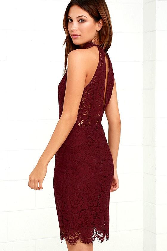 BB Dakota Cara Burgundy Lace Dress 3
