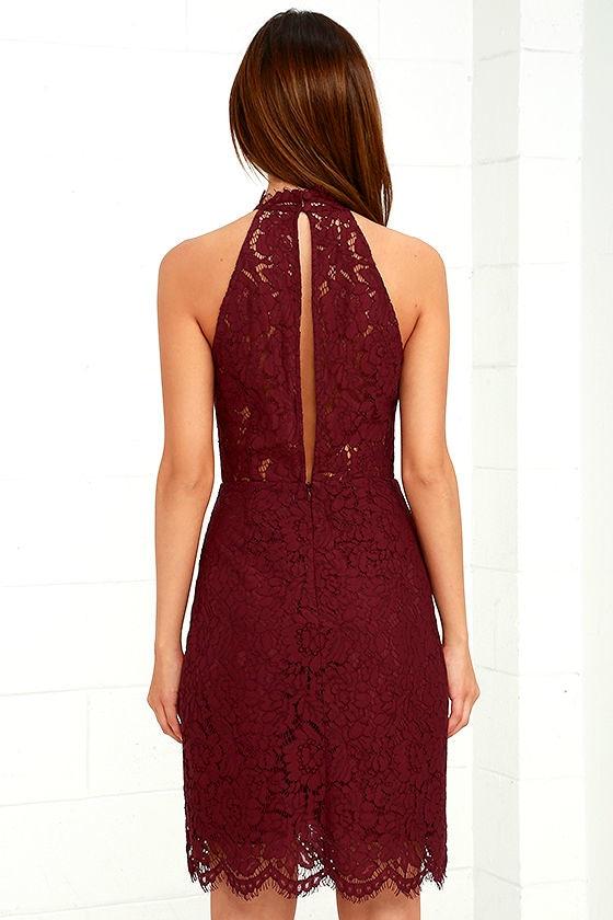 BB Dakota Cara Burgundy Lace Dress 4