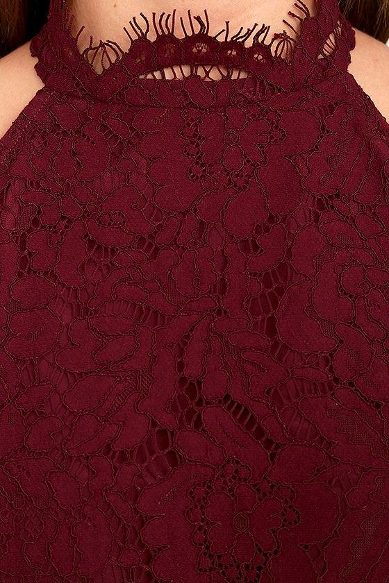 BB Dakota Cara Burgundy Lace Dress 6