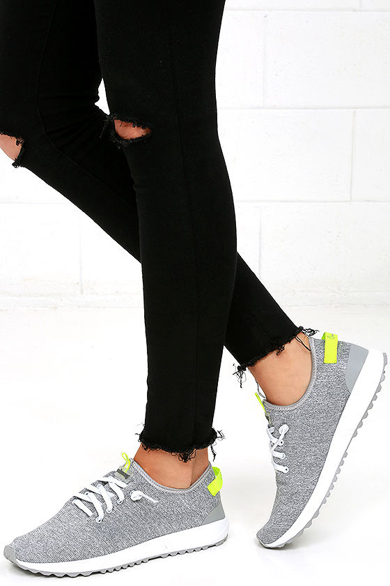 Coolway Tahali Silver Knit Sneakers 1