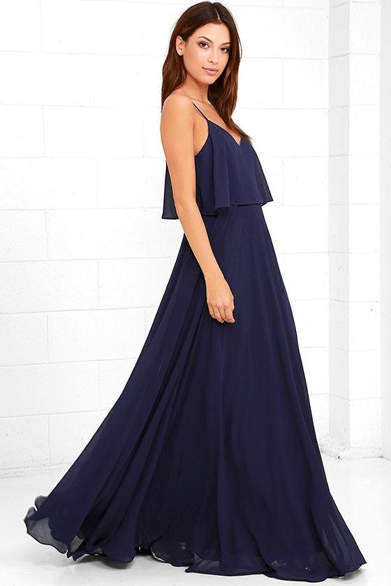 Love Runs High Navy Blue Maxi Dress 2