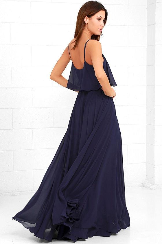 Love Runs High Navy Blue Maxi Dress 3