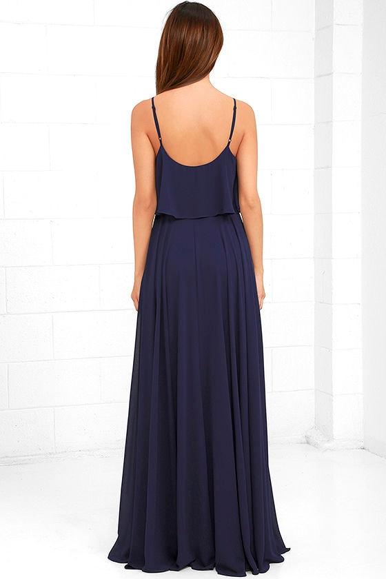 Love Runs High Navy Blue Maxi Dress 4