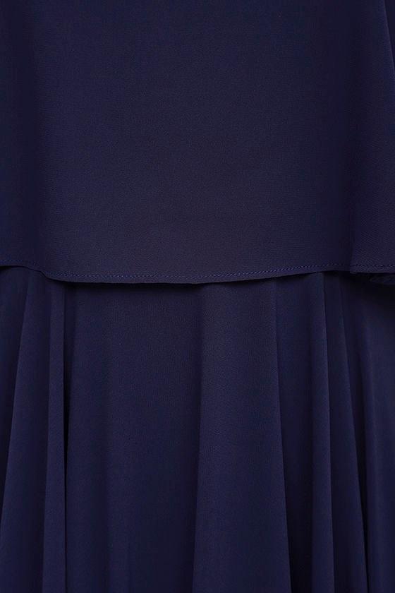 Love Runs High Navy Blue Maxi Dress 6