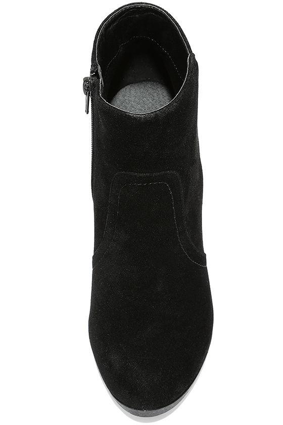 Aubrey Black Suede Ankle Booties 5