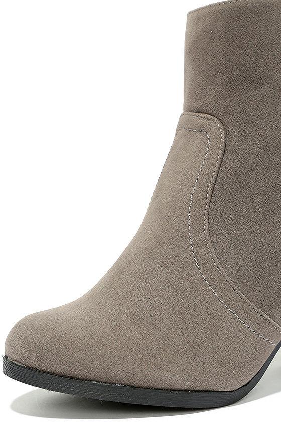 Aubrey Grey Suede Ankle Booties 6