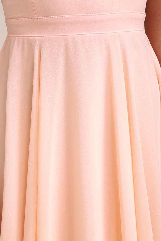 Forevermore Peach Skater Dress 6