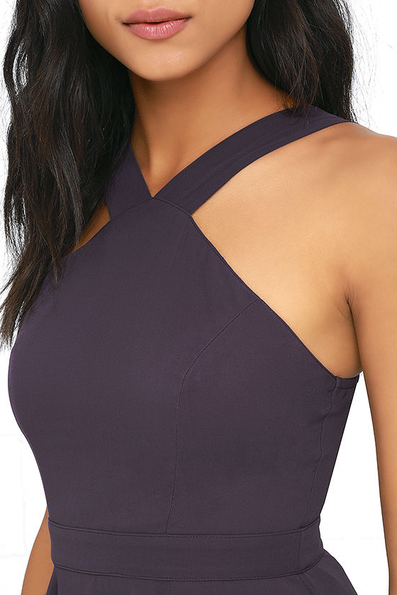 Forevermore Dusty Purple Skater Dress 5