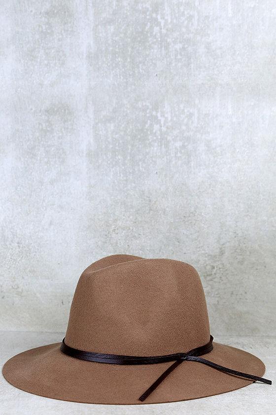 73f66c42d2ac2 Chic Tan Hat - Wool Hat - Fedora Hat -  29.00