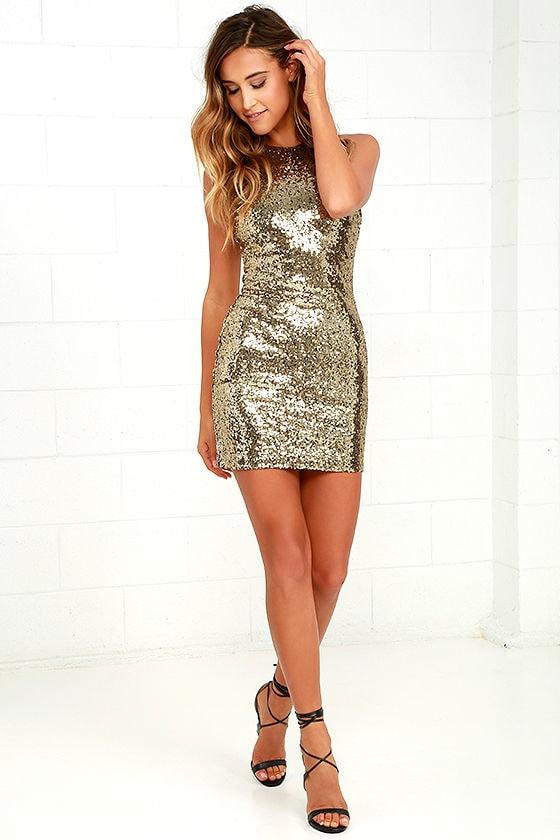 262962bdcb Sexy Sequin Dress - Bodycon Dress - Gold Sequin Dress -  59.00