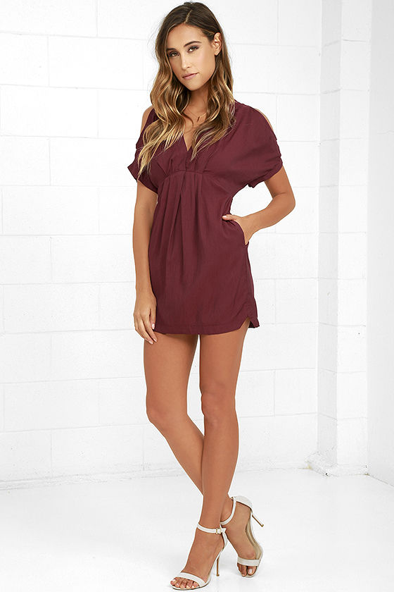 Game Changer Wine Red Dress 2