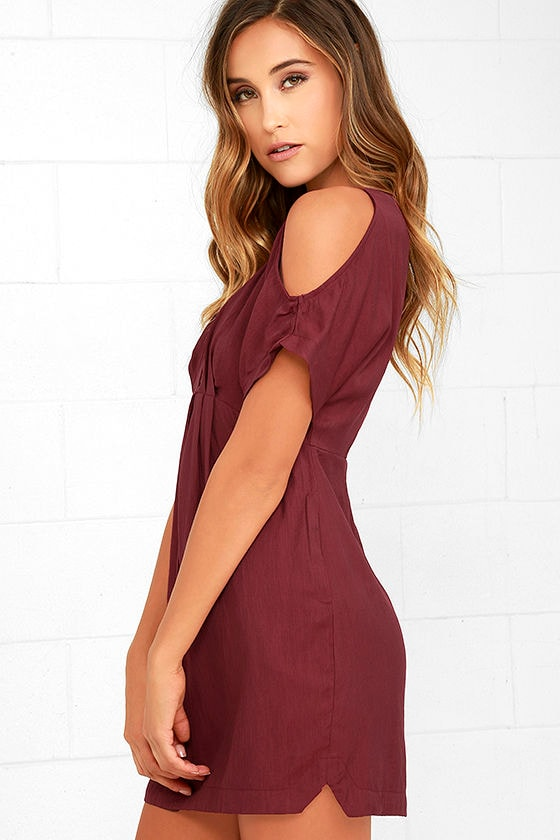 Game Changer Wine Red Dress 3