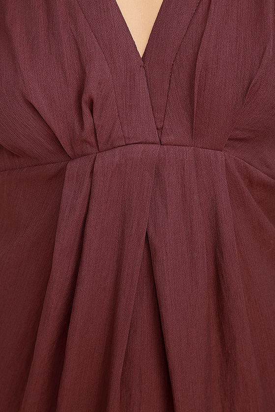 Game Changer Wine Red Dress 6
