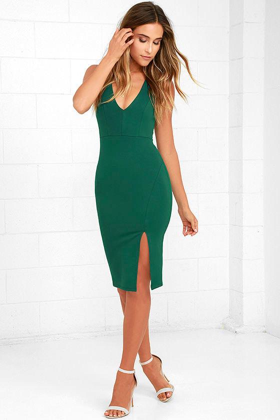 fc0af8f5b9d6 Sexy Forest Green Dress - Bodycon Dress - Sleeveless Dress -  48.00