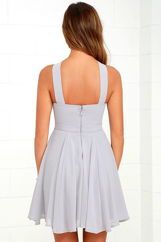 Forevermore Grey Skater Dress 4