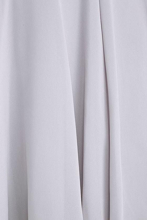 Forevermore Grey Skater Dress 6