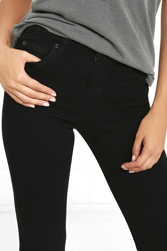 Obey Slasher Black Distressed Ankle Skinny Jeans 6