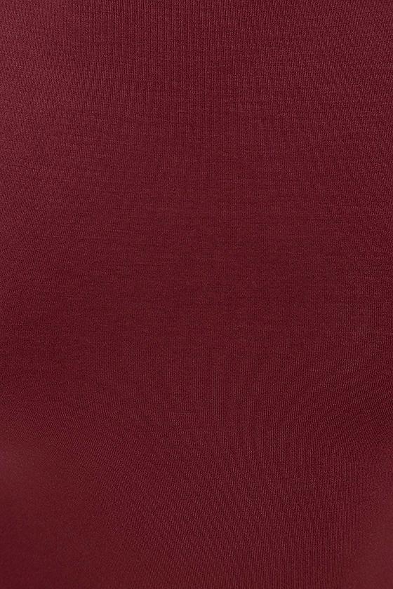 Swept Away Burgundy Long Sleeve Maxi Dress 6