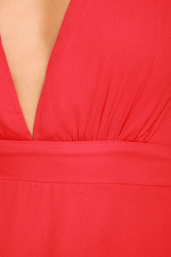 Ecstatic Harmony Red Long Sleeve Dress 7
