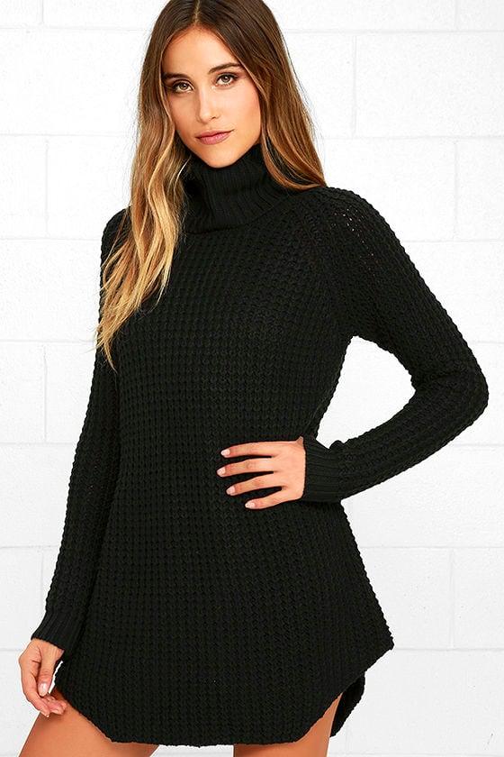 Element Eden Eleventh Black Sweater Dress Knit Sweater Dress