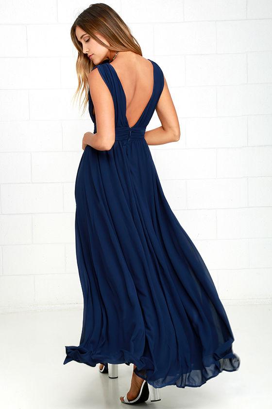 Heavenly Hues Navy Blue Maxi Dress 4