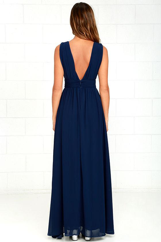 Heavenly Hues Navy Blue Maxi Dress 5