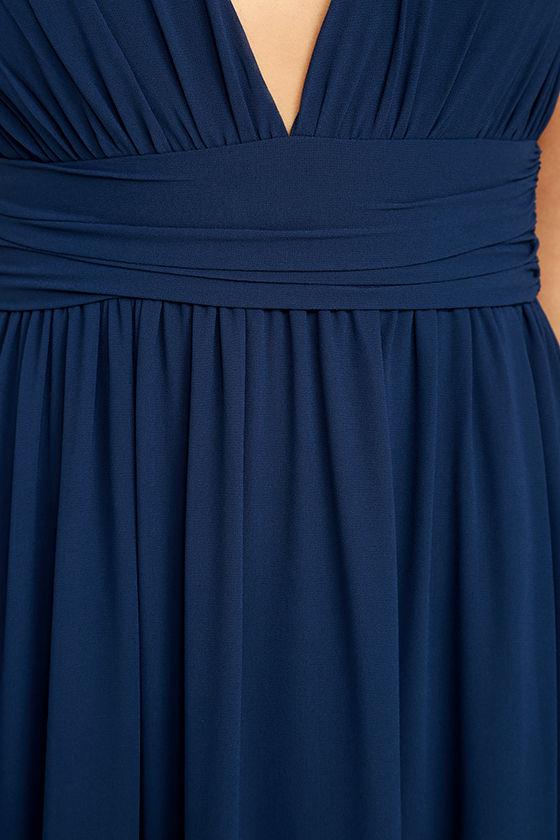Heavenly Hues Navy Blue Maxi Dress 7