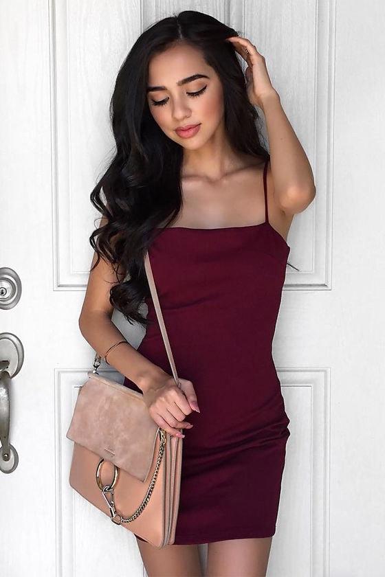 Flaunt It Burgundy Bodycon Dress 7