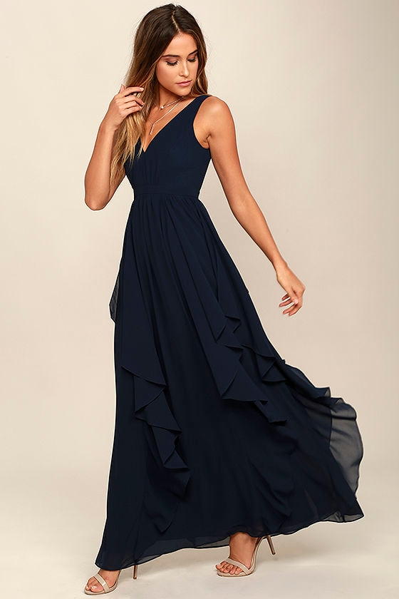 Simply Sweet Navy Blue Maxi Dress 2