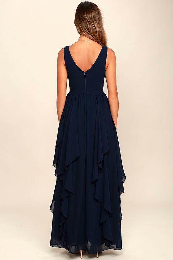 Simply Sweet Navy Blue Maxi Dress 4