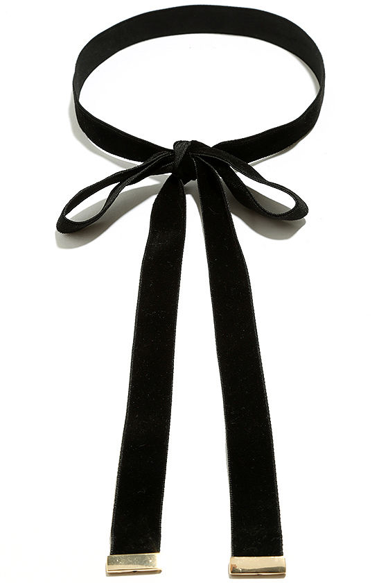 Special Gift Black Velvet Wrap Necklace 3