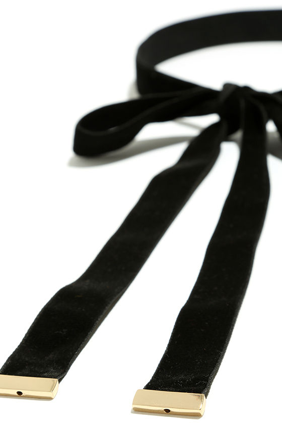 Special Gift Black Velvet Wrap Necklace 4