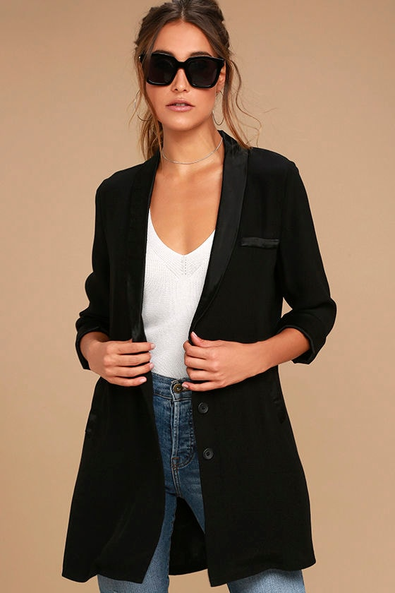 Only the Lucky Black Blazer 1
