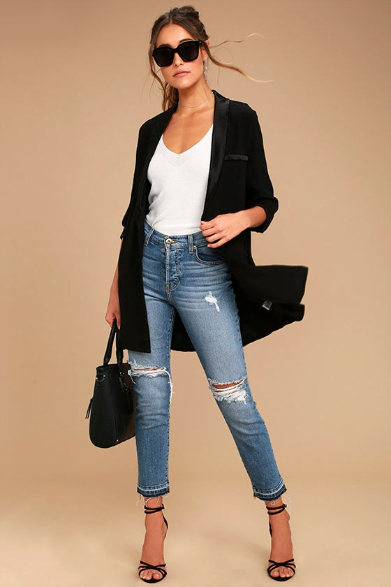 Only the Lucky Black Blazer 2